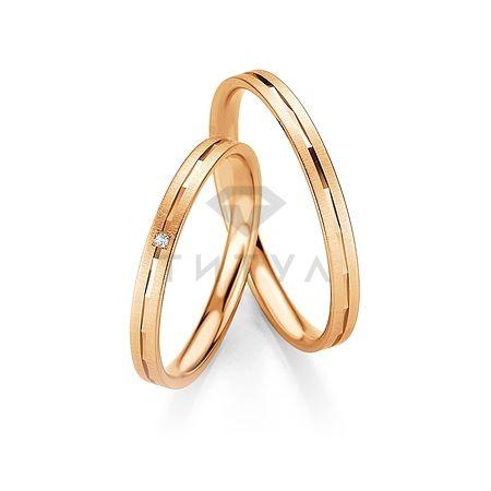 Т-26803 золотые парные обручальные кольца (ширина 2 мм.) (цена за пару)