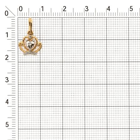 Т141034565 золотая подвеска с бриллиантами корона