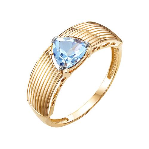 Кольцо из красного золота с топазом sky