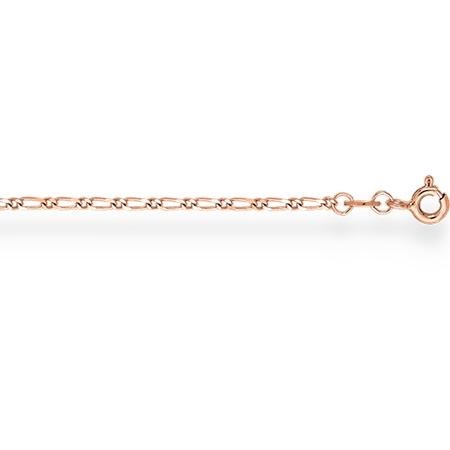 НБ12-012 золотой браслет фигаро 1+1 с алмазной гранью