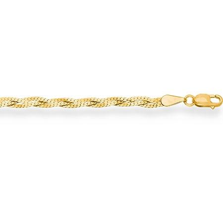 НЦ15-007 цепочка из желтого золота париджина косичка из 3-х цепочек с алмазной гранью