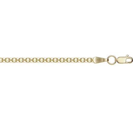 Цепочка из желтого золота Бисмарк с алмазной гранью