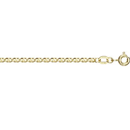 Цепочка из желтого золота Окио ди перниче с алмазной гранью