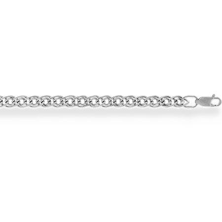 НЦ18-200-3 цепочка из белого золота нонна с алмазной гранью