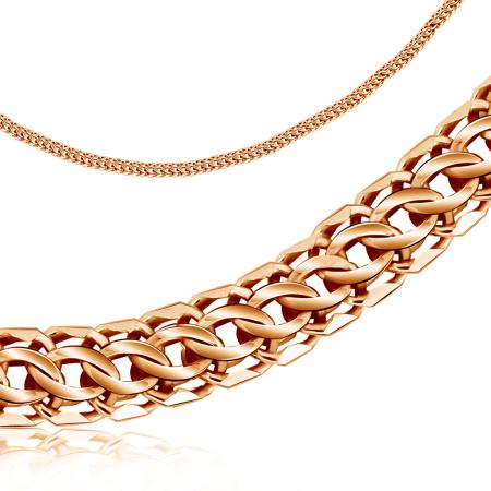 Т-12532 золотая мужская цепочка питон