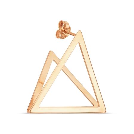 Т100028045 золотая одиночная серьга без камней