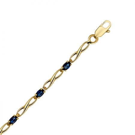Т-33065 золотой браслет c сапфирами