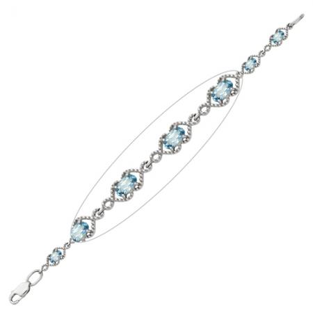 Браслет из серебра с топазами Бр620-062-17Т Ювелирные традиции