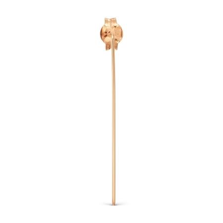 Т100028048 золотая одиночная серьга без камней