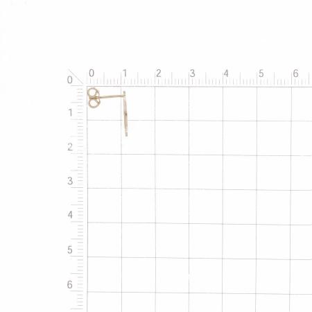 Т100028735 золотые серьги-гвоздики без камней