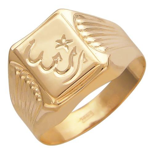 Мужское кольцо из красного золота без камней