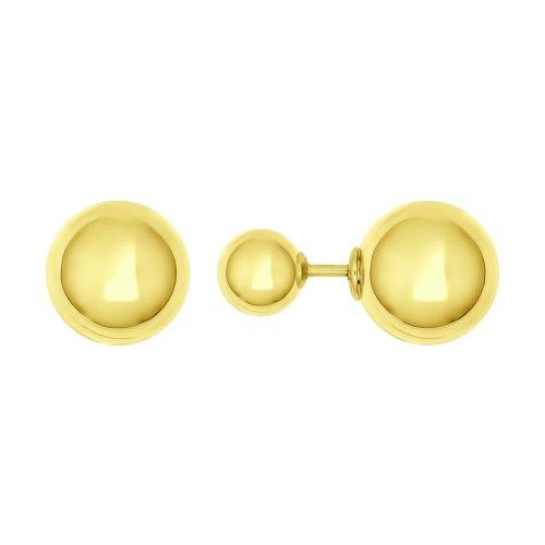 026974-2 серьги из желтого золота