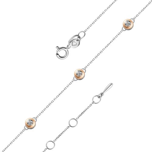 Браслет из серебра с бриллиантом