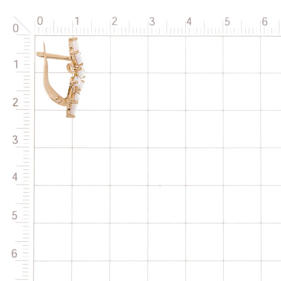 Т102028177 золотые серьги с опалами, фианитами
