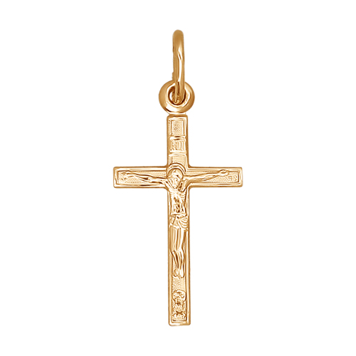 120089 золотой крестик без камней sokolov