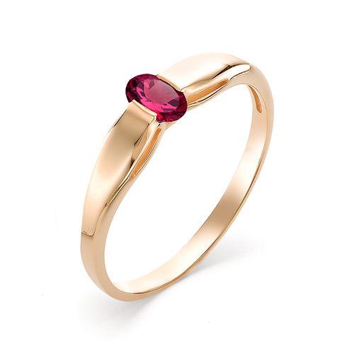 12334-103 женское кольцо из золота с рубином