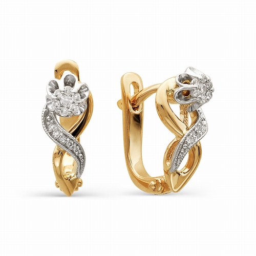 21110-100 золотые серьги с бриллиантами