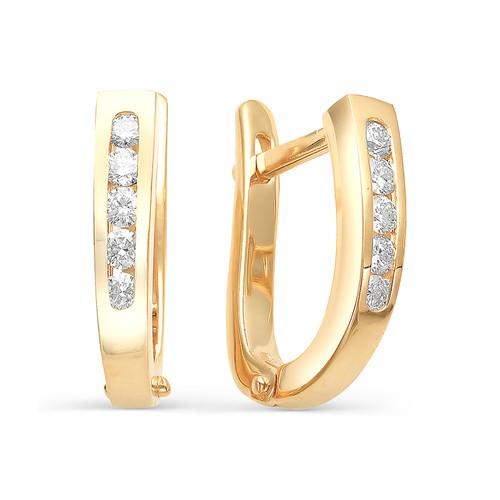 2128-100 золотые серьги с бриллиантами
