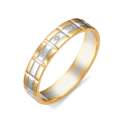 12380-100 обручальное кольцо из двухцветного золота