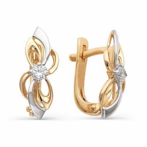 21256-100 золотые серьги с бриллиантами