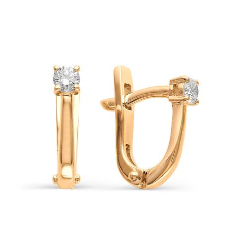 21153-100 золотые серьги с бриллиантами