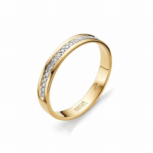 12015-100* обручальное кольцо с дорожкой бриллиантов 17 граней