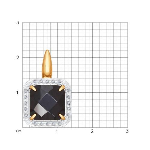 Золотая подвеска (Бриллиант, Керамика) SOKOLOV