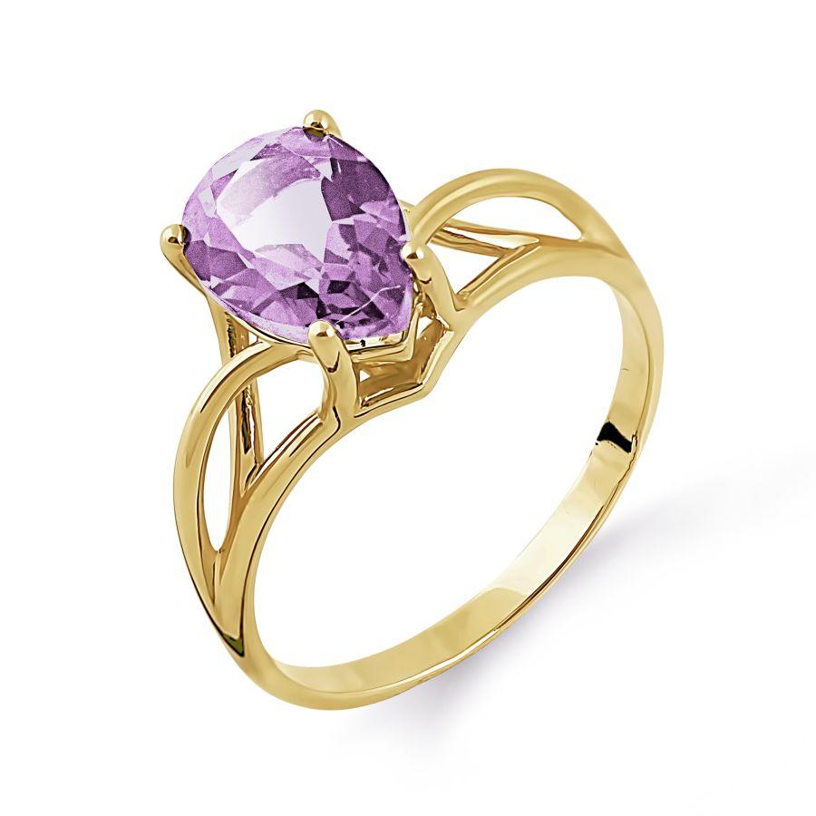 Т901014087 золотое кольцо с аметистом