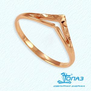 Т10061362 золотое кольцо без камней