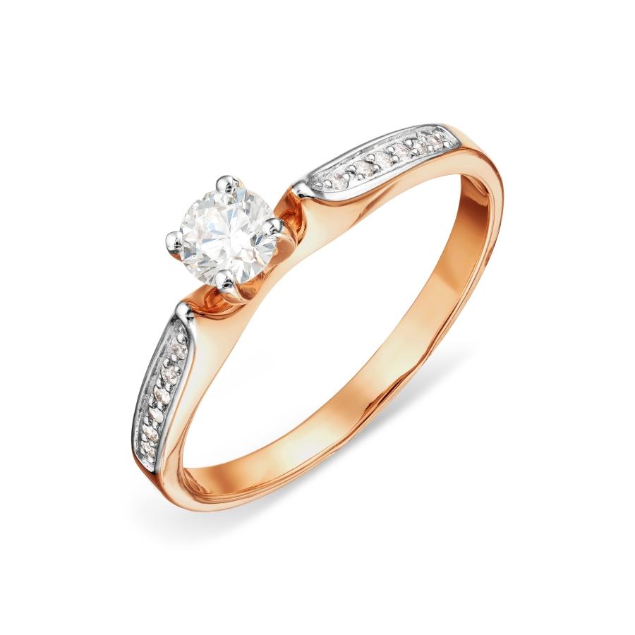 Т141016413 золотое кольцо с бриллиантами