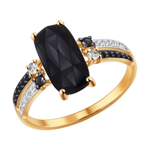 Золотое кольцо с агатами SOKOLOV