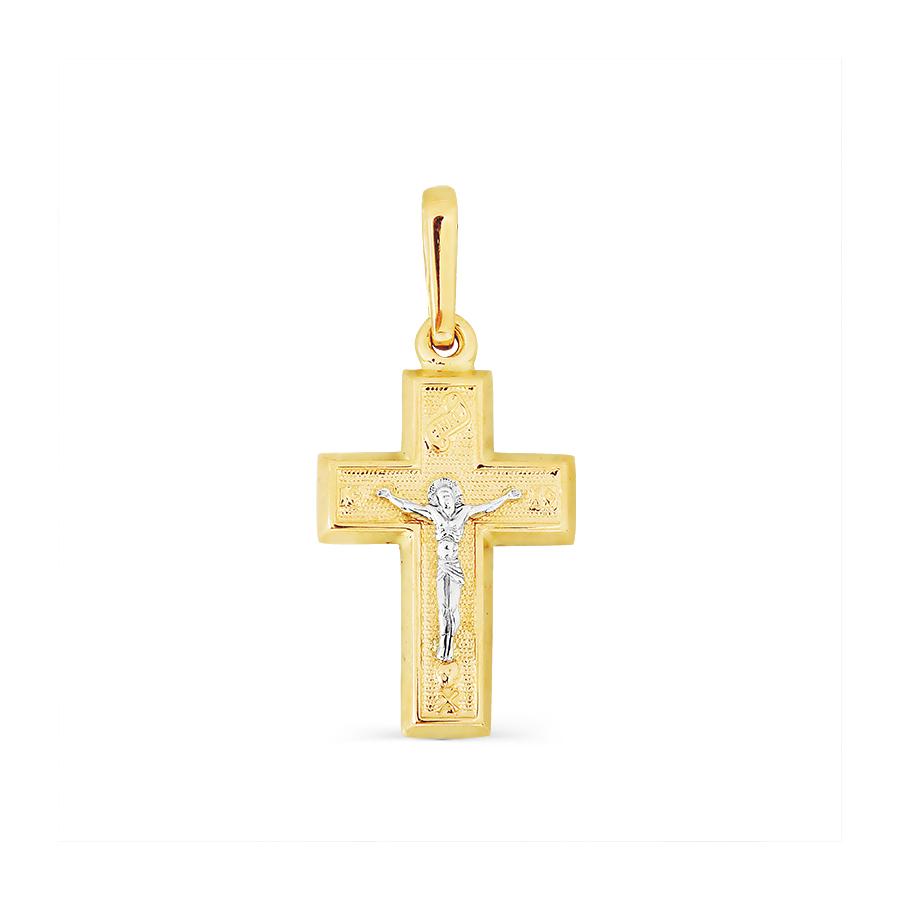 т93006642 крестик из желтого золота