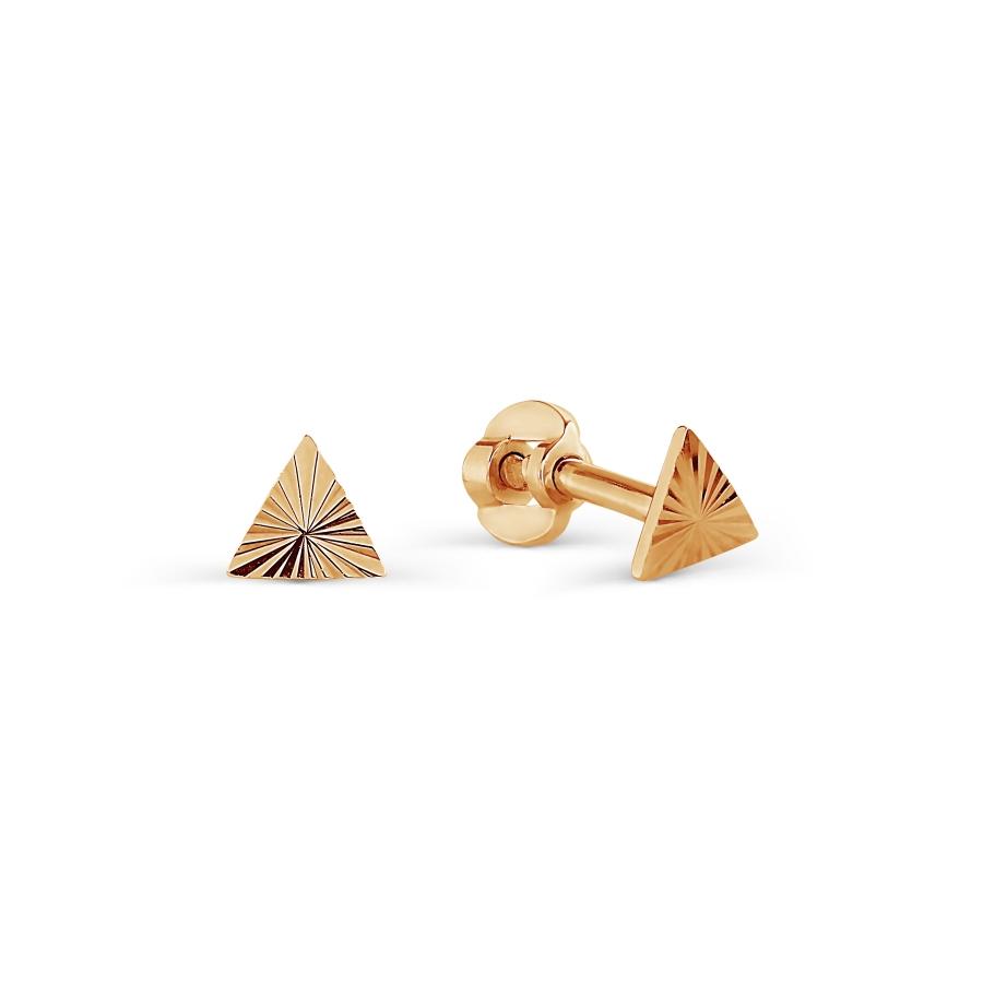Т100622748 золотые пусеты геометрия
