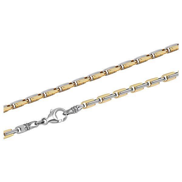 Т-39775 мужская цепь из золота с золотыми вставками