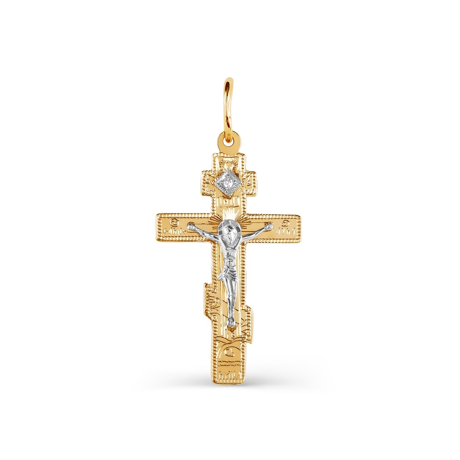 Золотой крестик с фианитом