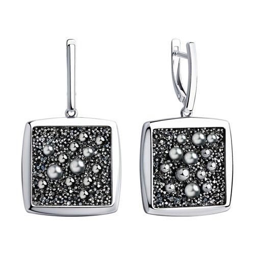Серьги из серебра с кристаллами Swarovski