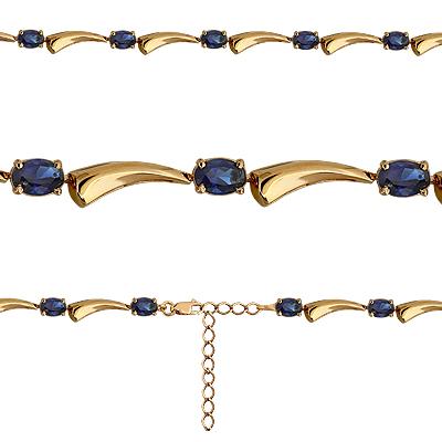 Т-22488 золотой браслет с сапфиром