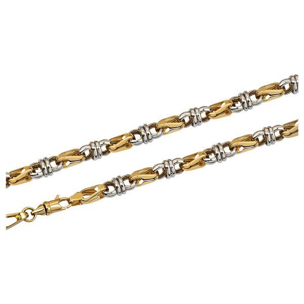Т-39717 мужская цепь из комбинированного золота