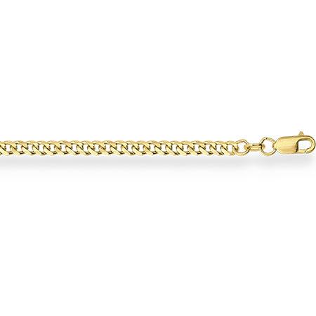 НЦ11-002 цепочка из желтого золота гурмета с алмазной гранью