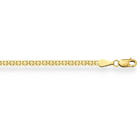 НЦ11-040 цепочка из желтого золота бисмарк с алмазной гранью