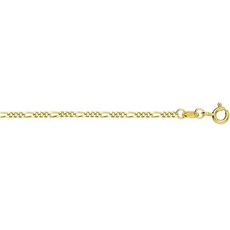 Цепочка из желтого золота Фигаро 3+1 с алмазной гранью