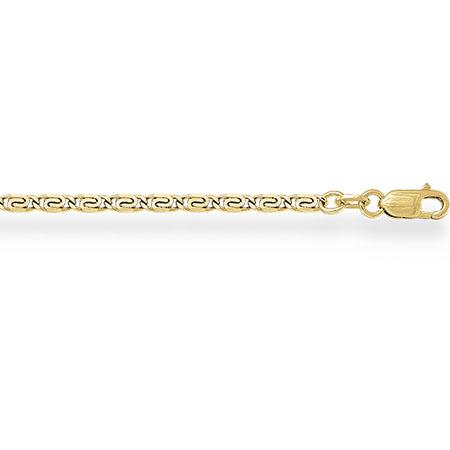 НЦ11-046 цепочка из желтого золота люмакина с алмазной гранью