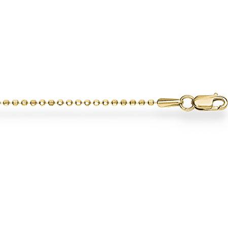 НЦ11-088 цепочка из желтого золота шариковая с алмазной гранью