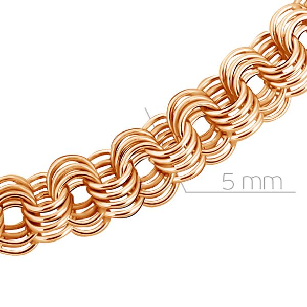 Т-12525 золотая мужская цепочка ленточка