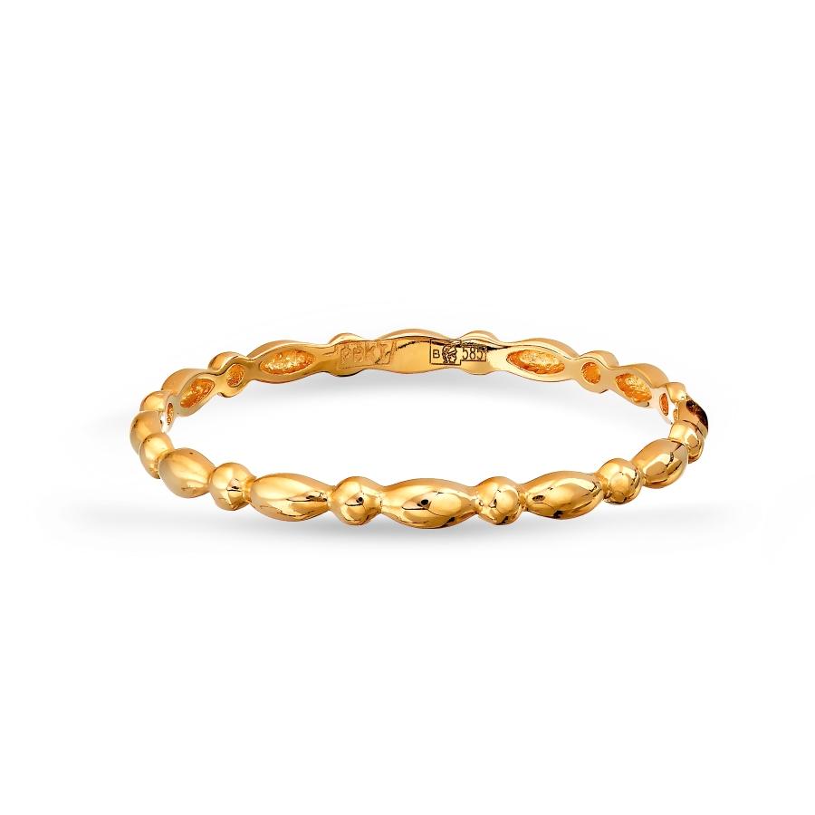 Т100017471 золотое кольцо без камней