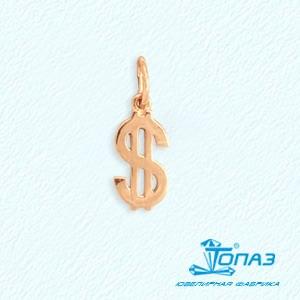 Т100031637 золотая подвеска доллар