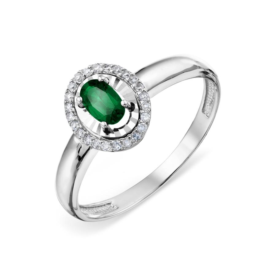 Т306618596 золотое кольцо с изумрудом и бриллиантом