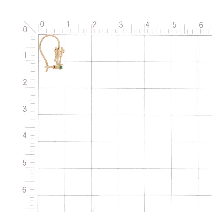 Т102028369 детские золотые серьги с фианитами