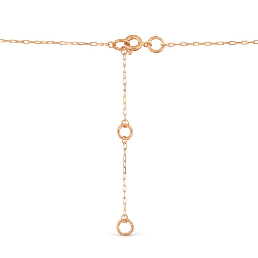 Т14711576-02 золотое колье с гранатом и фианитами