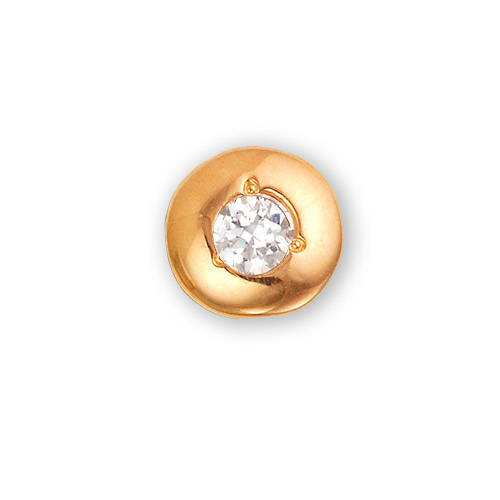 Подвеска из красного золота с бриллиантом